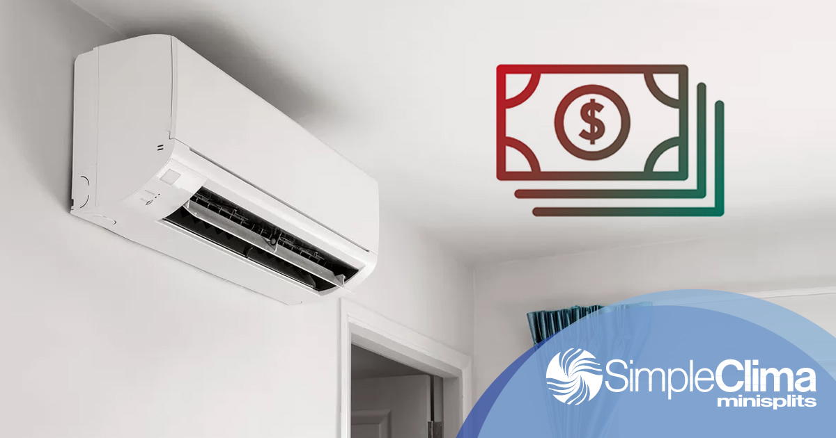 ¿Cuánto cuesta un minisplit de aire acondicionado?